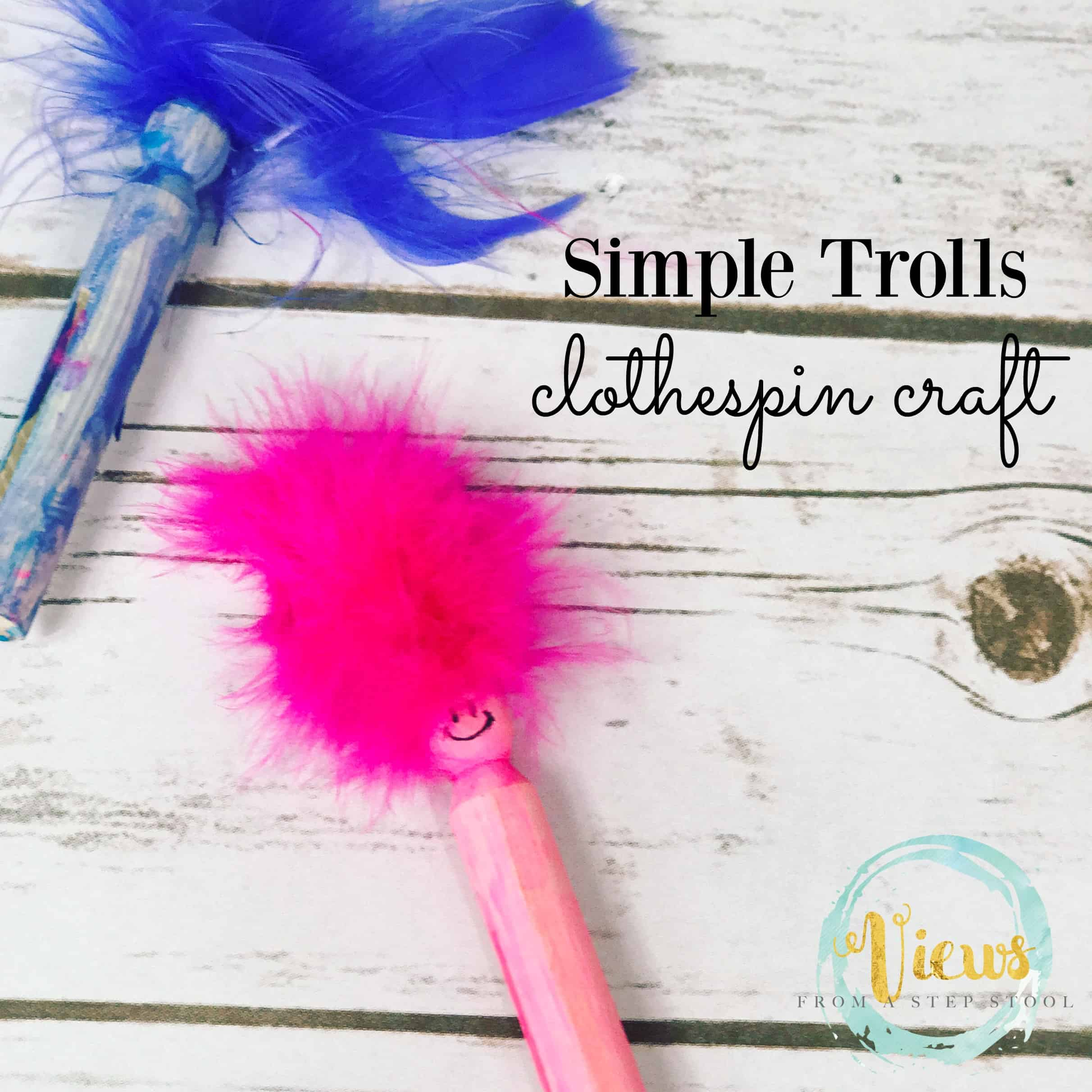 trolls clothespin craft fb