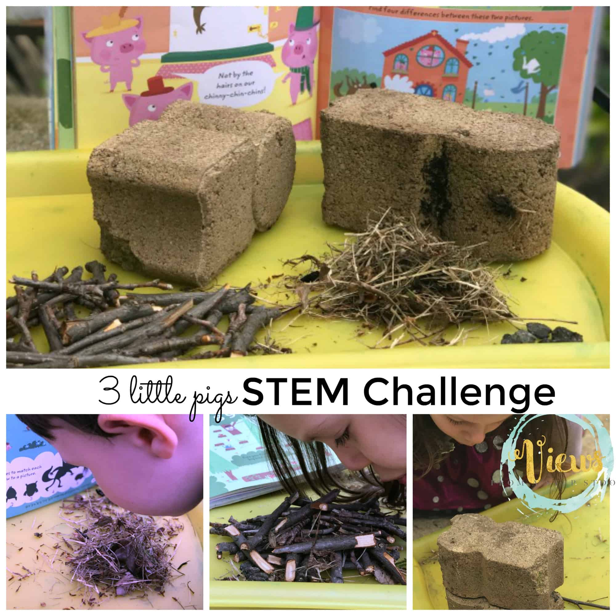 3 pigs STEM challenge square collage