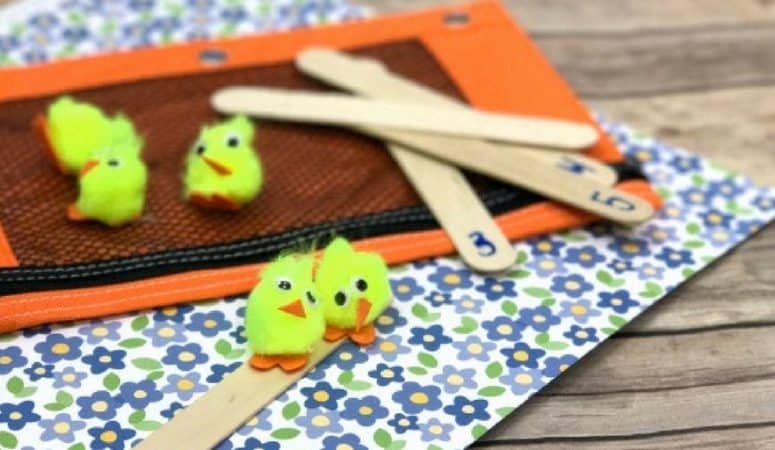 Counting Chicks Busy Bag for Preschoolers with Peep and Egg