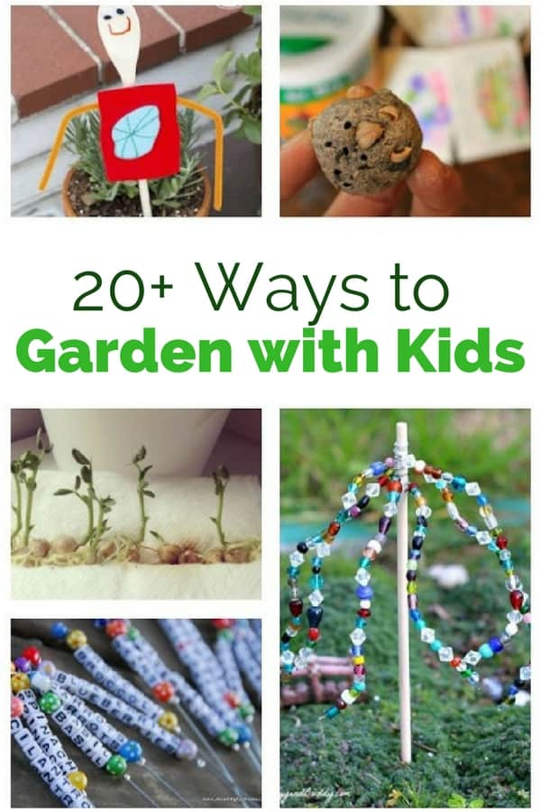 garden with kids pin