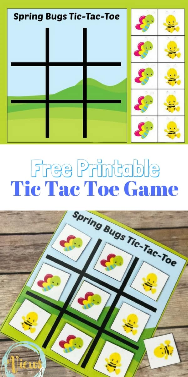 picture relating to Free Printable Tic Tac Toe Board named Spring Insects Tic Tac Toe Printable Match and Occupied Bag