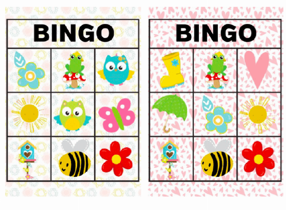 graphic relating to Spring Bingo Game Printable identified as Spring-Themed Printable Game titles for Babies and Preschoolers