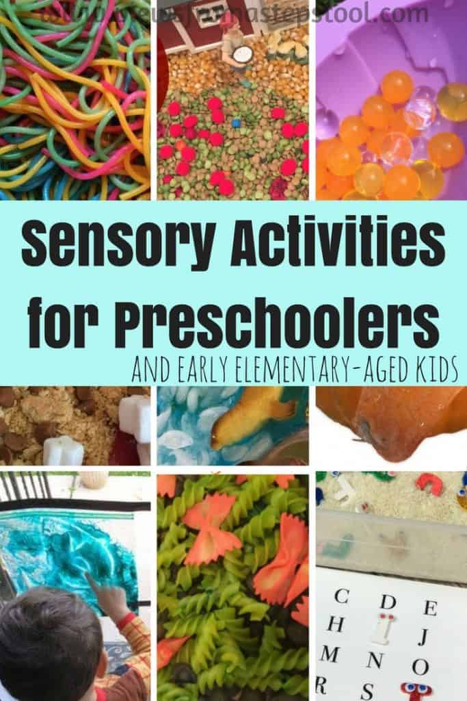 These sensory activities for preschoolers are excellent ways to combine hands-on learning with education. Kids remember so much when senses are engaged.