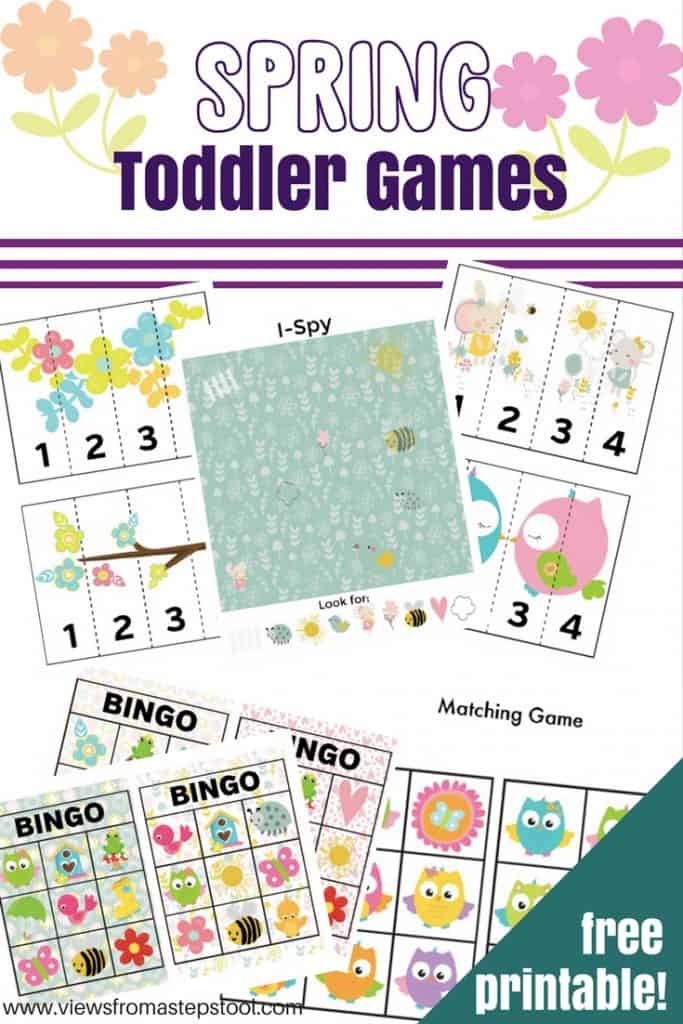 photo relating to Spring Bingo Game Printable known as Spring-Themed Printable Online games for Babies and Preschoolers