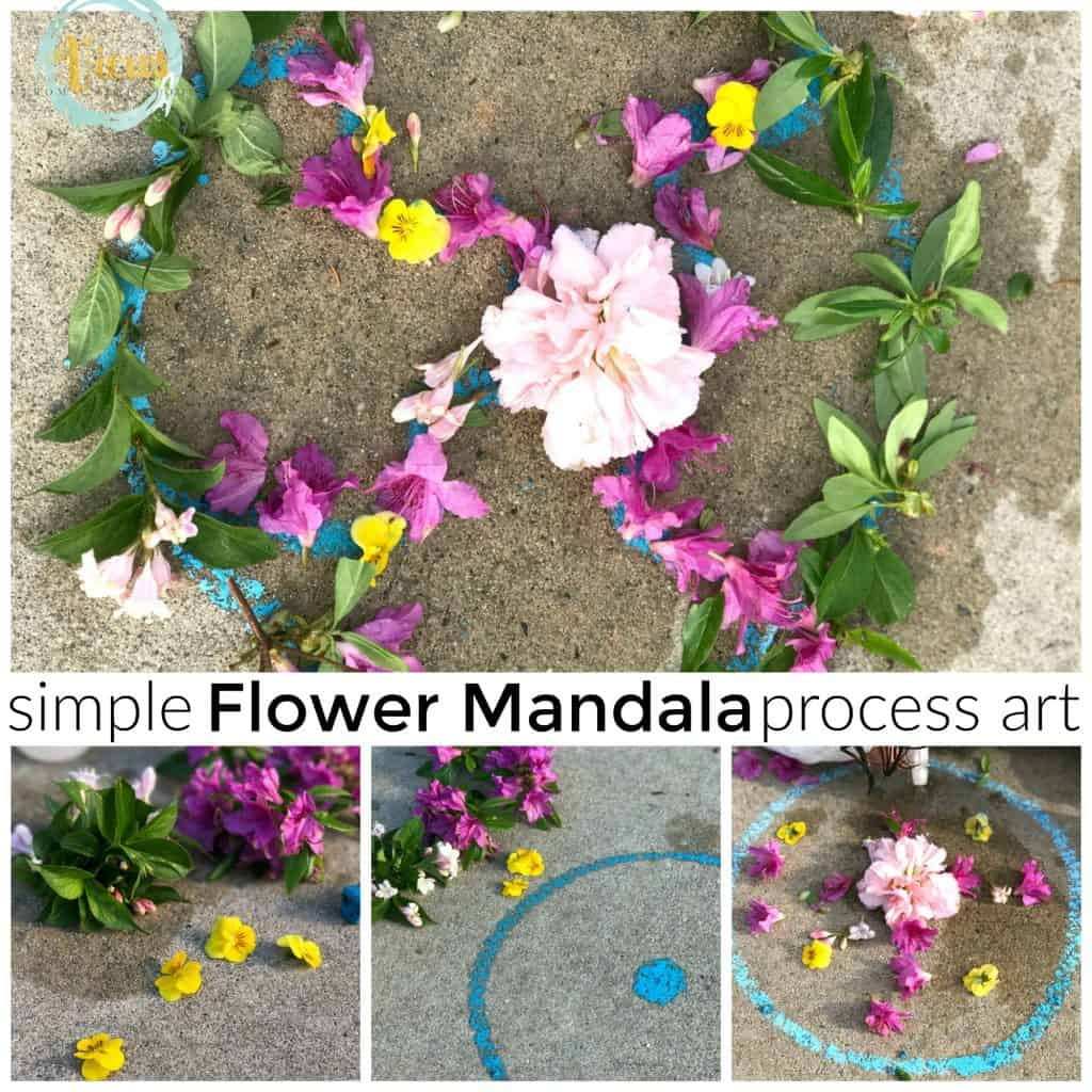 flower mandala square collage