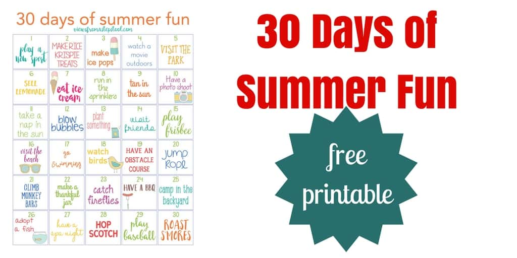 This free printable calendar for family summer fun is a great way to keep your kids busy and your family connected over the summer!