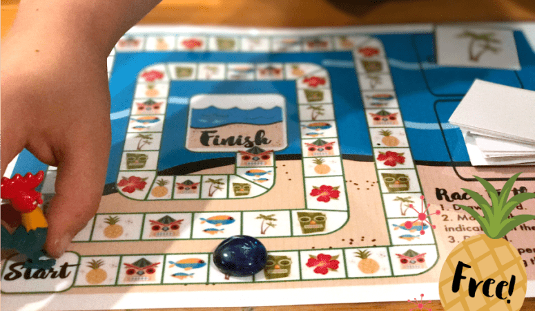 Moana-Inspired Printable Board Game