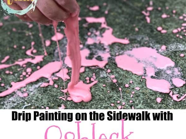Oobleck Drip Painting on the Sidewalk