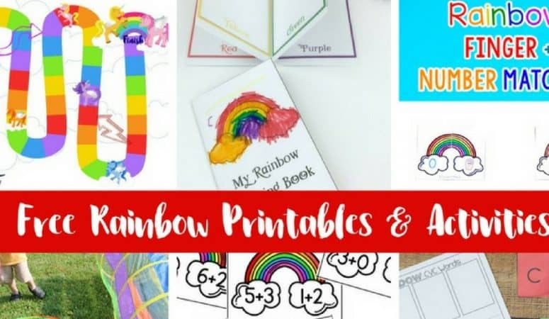 Learn Colors with Rainbows! 10+ Activities and Printables