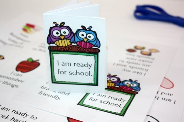 Back to School Affirmations: Printable Mini Book