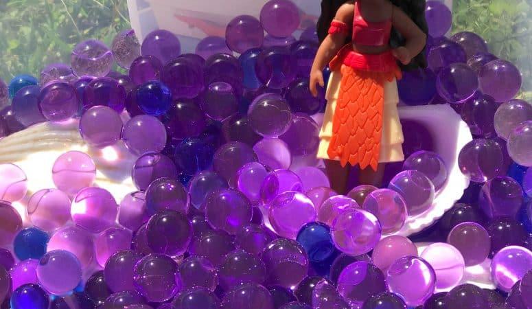 Moana-Inspired Water Bead Sensory Play