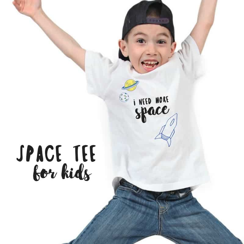 """I need more space"" t shirt for boys!"