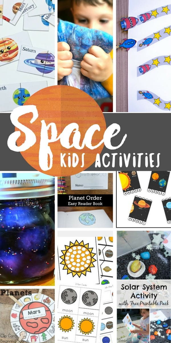 These space activities are the perfect way to promote hands-on learning through play. Learn about planets, stars, galaxies and more with these sensory, art and printable ideas!