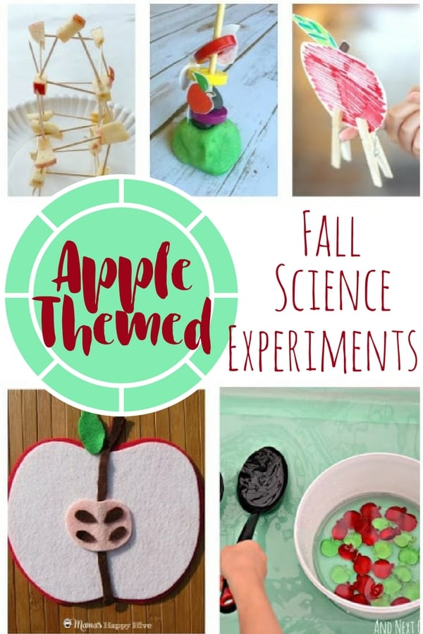 Apple Themed Fall science experiments pin