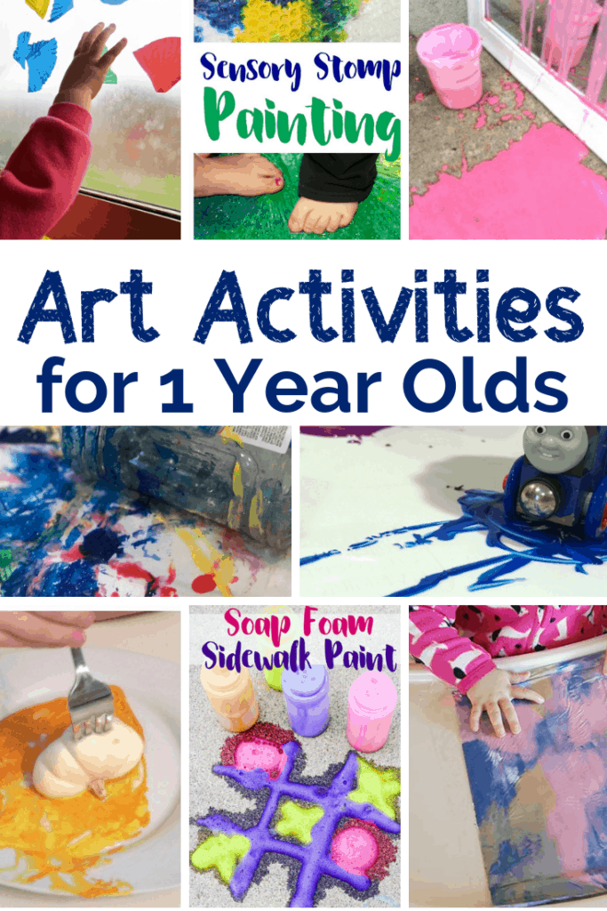10+ Art Activities for 1 Year Olds - Views From a Step Stool