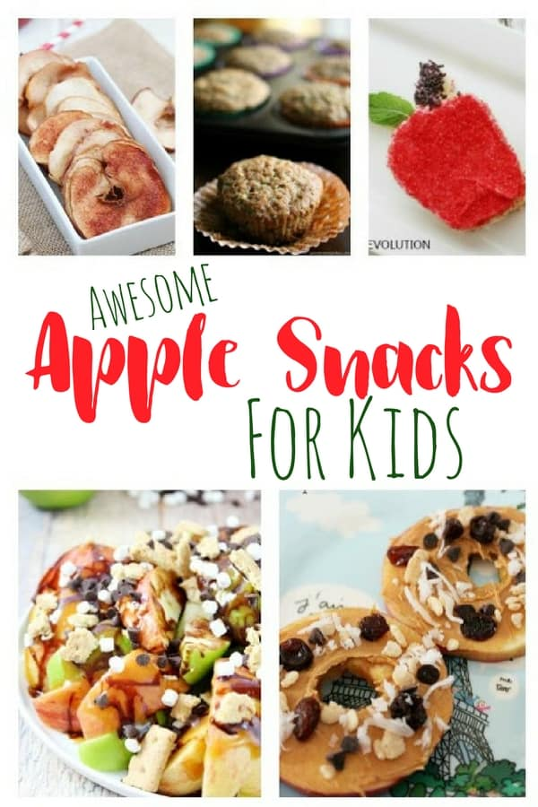 Apple Snacks for kids pin