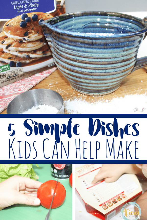 Kids love to help in the kitchen. Here are some shortcuts to make the process quicker, ways to sneak learning in, and 5 dishes kids can help make.