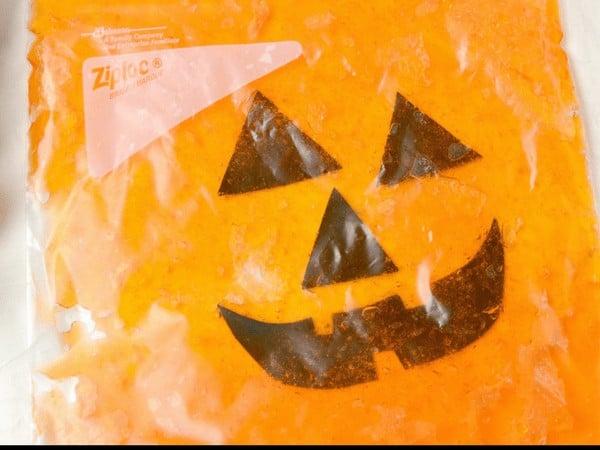 Jack-o-Lantern Halloween Sensory Bag for Babies