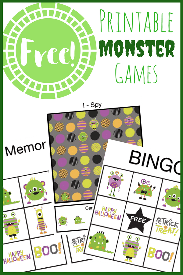 These printable monster games are perfect for toddlers, preschoolers and elementary aged kids! What a fun way to celebrate Halloween!