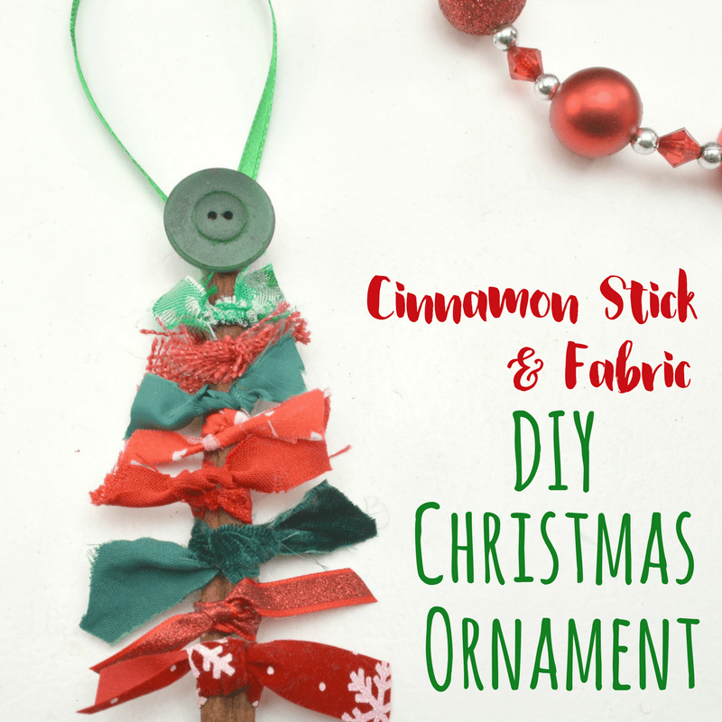 Making a DIY Christmas ornament is such a fun way to celebrate the holidays with kids. The addition of the cinnamon stick makes them smell great! #DIYChristmas #kidsactivities