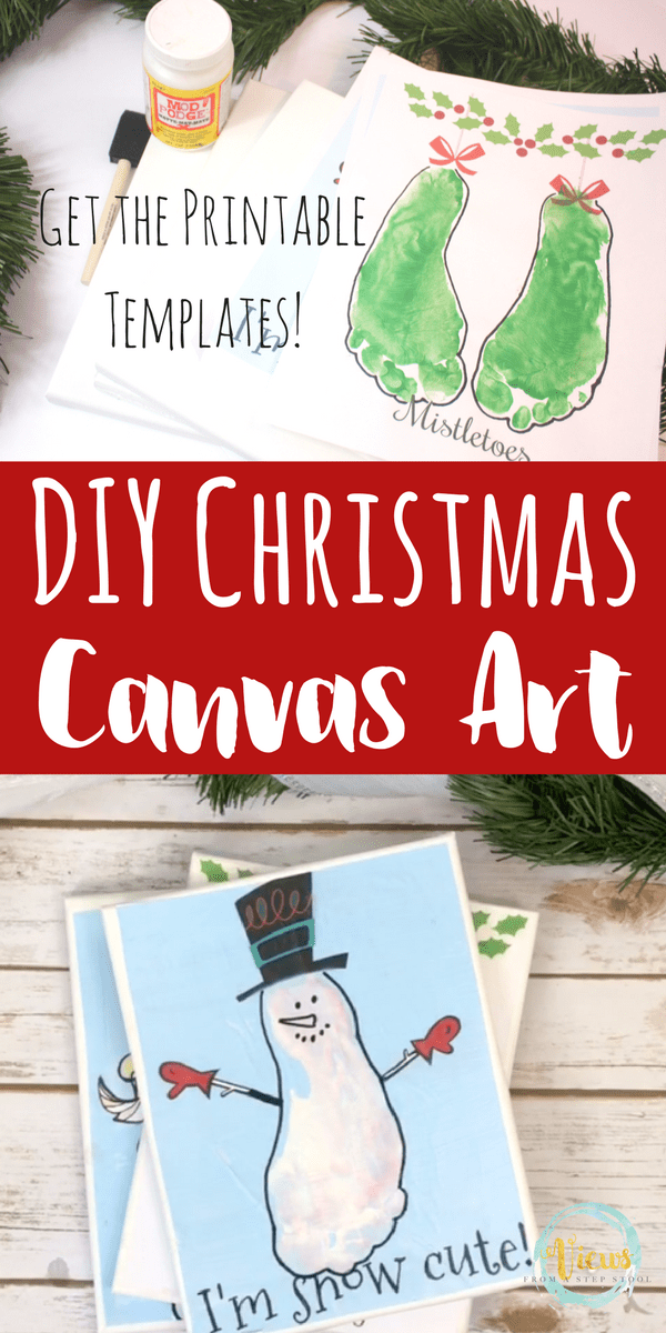 photograph relating to Printable Canvas referred to as Xmas Canvas Artwork with Printable Handprint and Footprint