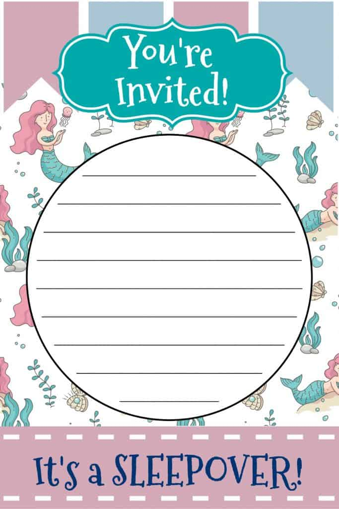 Mermaid Sleepover Printable