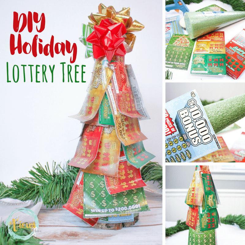 This lottery ticket tree is so simple to make, and it makes holiday gift giving easy and stress free! The perfect DIY holiday gift.