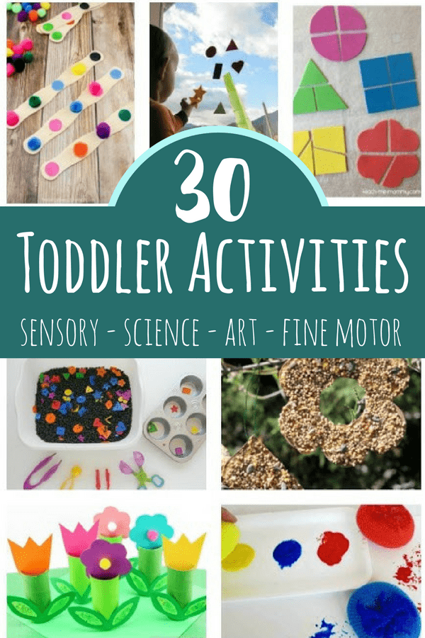 Toddler Activities Including Art Sensory And Fine Motor Play
