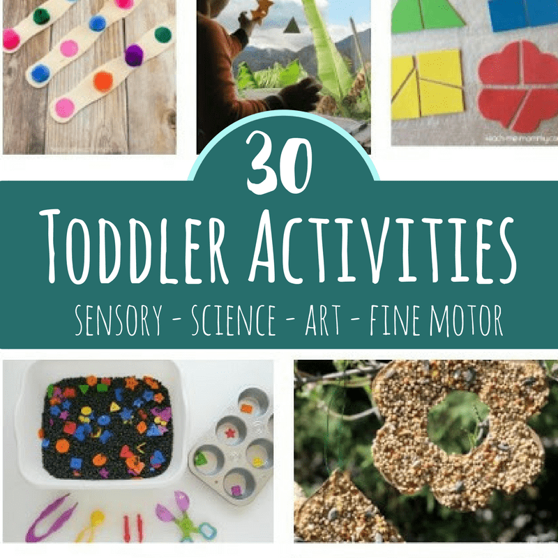 These toddler activities will help 1 and 2 year olds engage with the world through sensory play, art, science and fine motor activities!