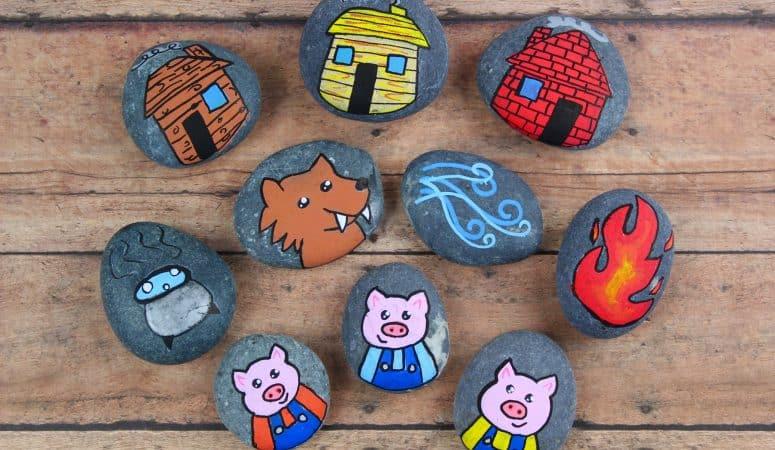 3 Little Pigs Story Stones