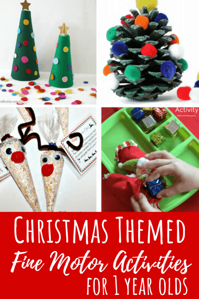christmas activities 1 year olds fine motor