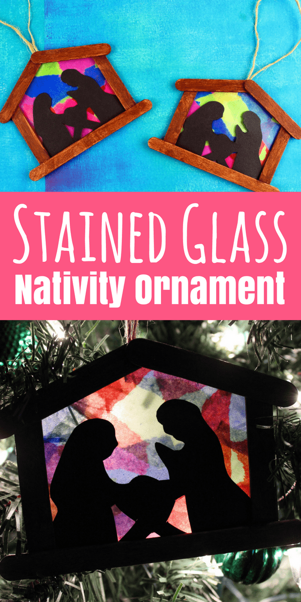 DIY Stained Glass Nativity Ornament