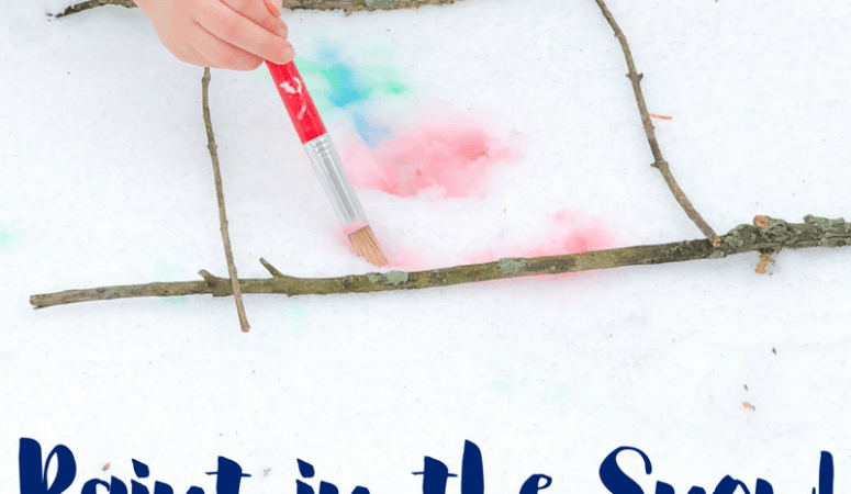 3 Ingredient Snow Paint