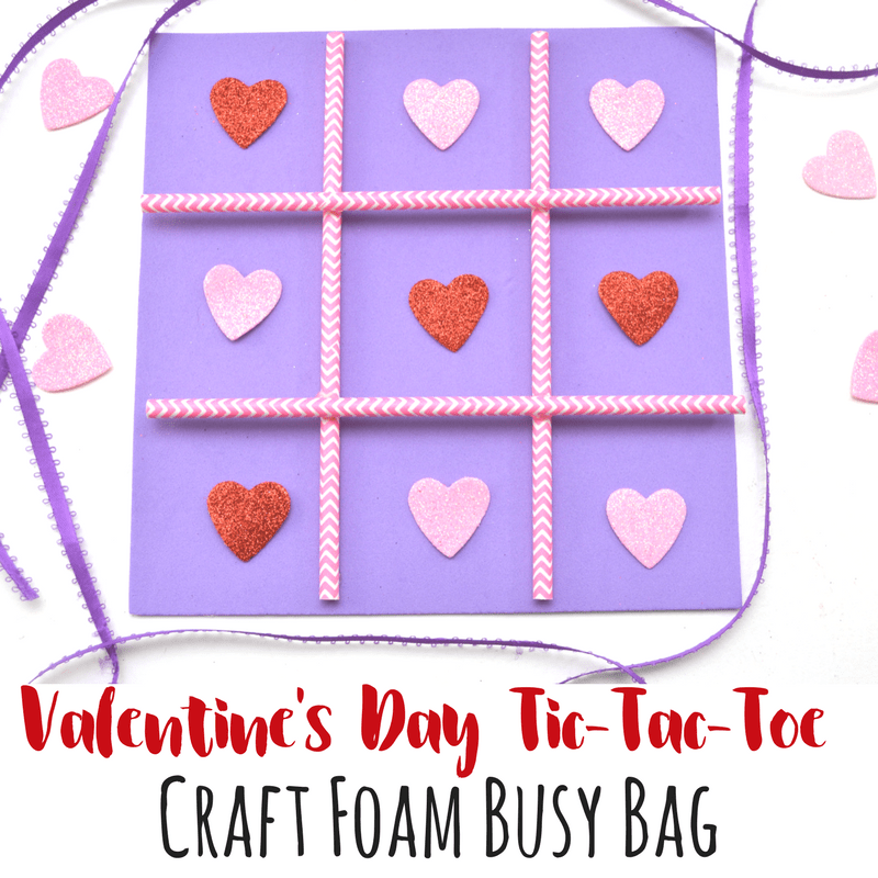 Valentines Day foam busy bag square