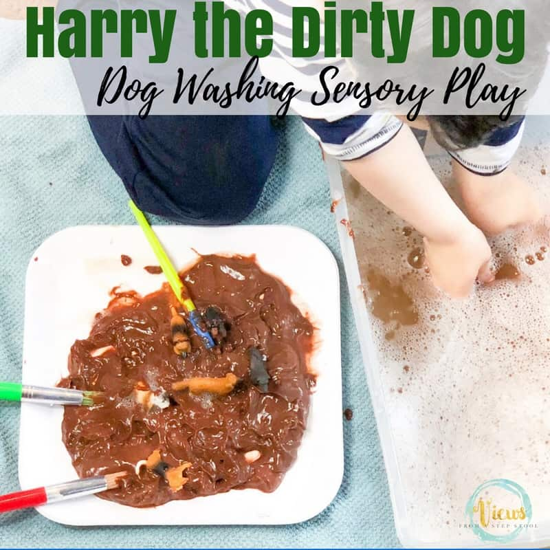 Edible sensory play perfect for babies and toddlers, as well as for older children. The perfect extension activity to the book, Harry the Dirty Dog.