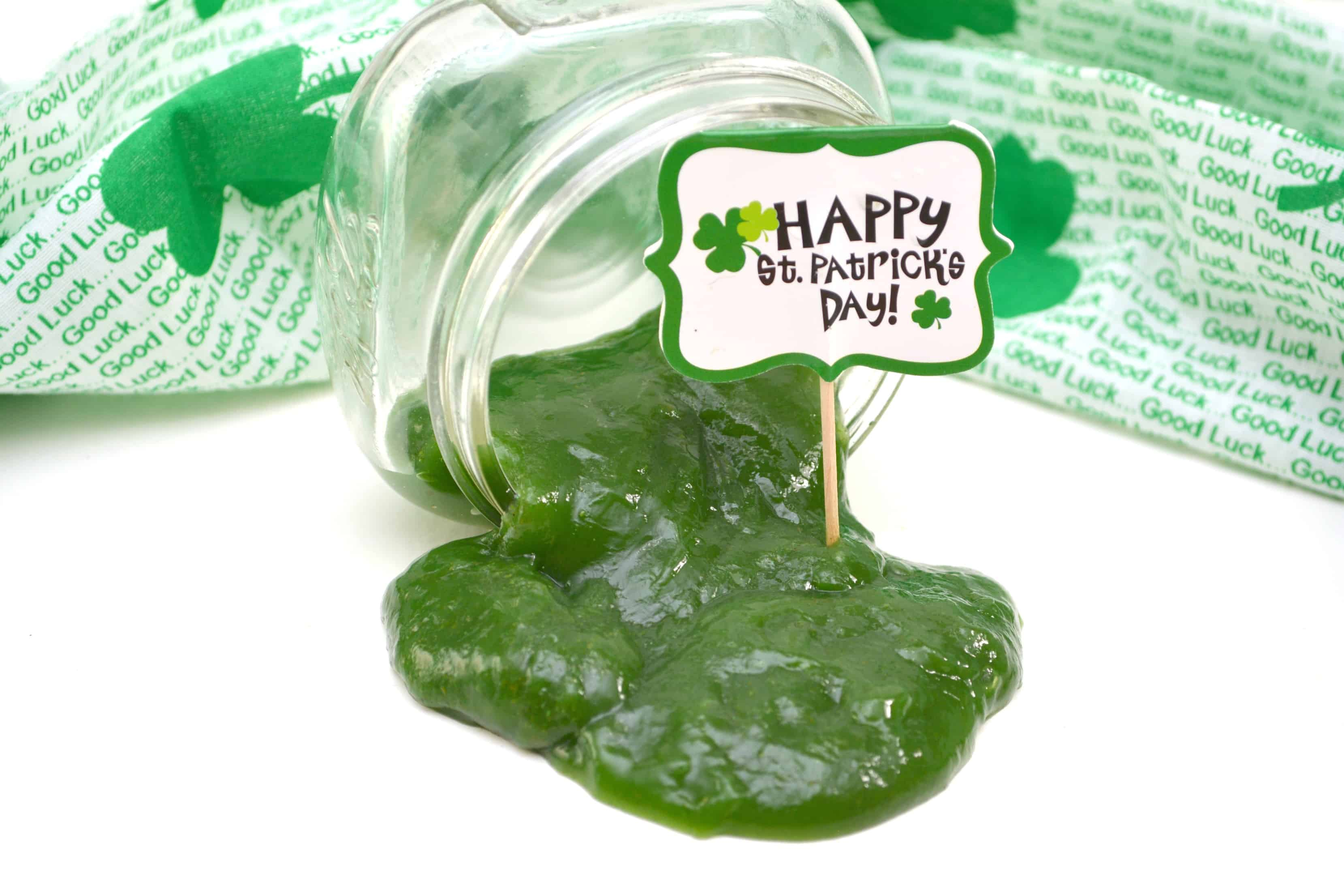 St. Patrick's Day Green Edible Slime Recipe