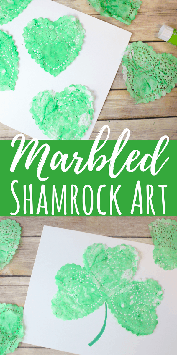 Marbled Shamrock Art: St. Patrick's Day Process Art for Kids