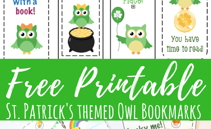 Free St. Patrick's Day Printable Bookmarks with Cute Owls
