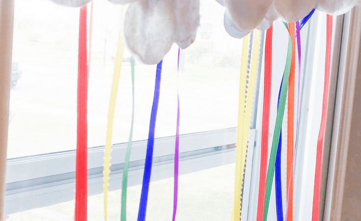 Rainbow Streamer Craft for Kids