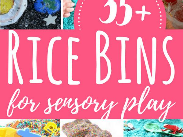 35+ Rice Bins for Sensory Play with Kids