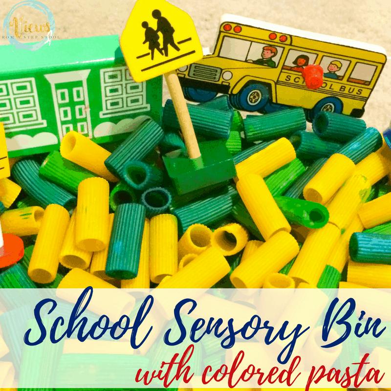 school sensory bin square