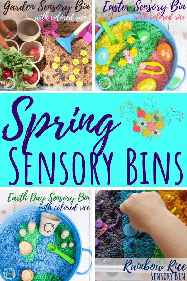 spring sensory bins