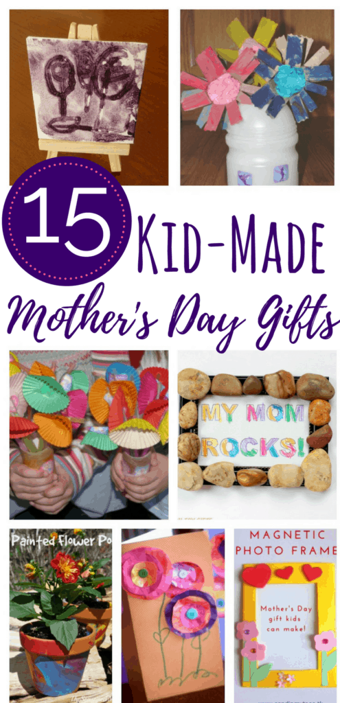 These homemade Mother's Day gifts are doable for kids. Perfect for the mom who loves a gift that looks like it was made by her child! #homemade #mothersday #diy #homemadegift #moms diygift