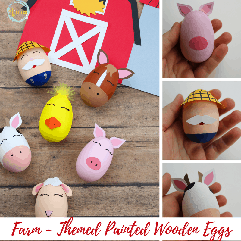 These DIY toys are farm themed and fun! Perfect as a homemade toy or gift, and long-lasting. Detailed instructions and printable template.