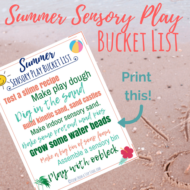 Summer Sensory Play bucket list square