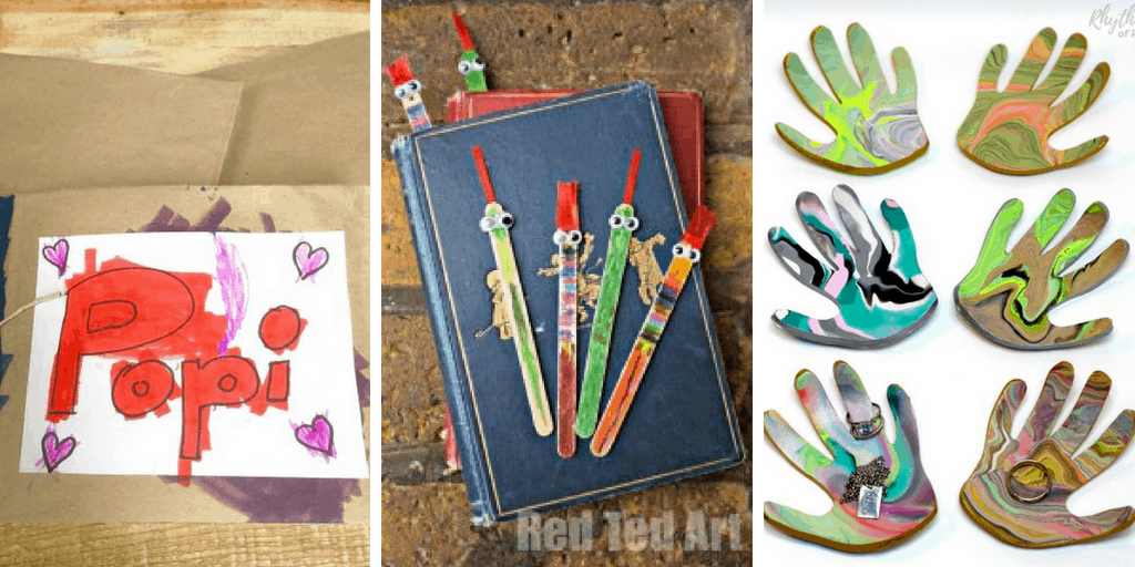 These gifts for Dad made by toddlers are perfect for any occasion. Give one of these to dad for Father's Day, as a birthday gift, or just as an 'I love you' #fathersdaygift #giftsfordad #homemadegift #diygifts