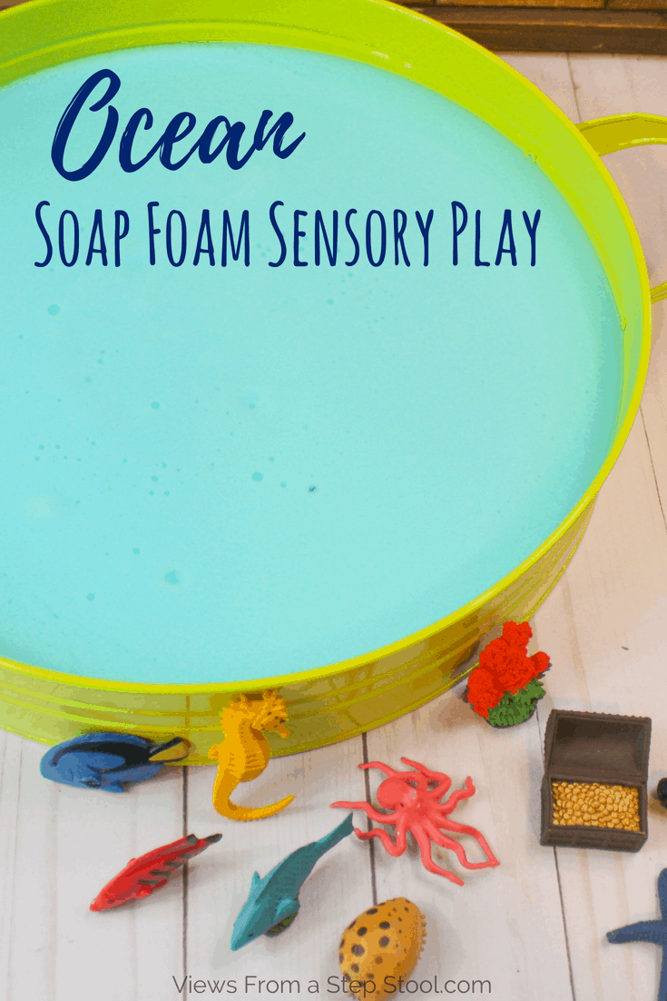 ocean soap foam sensory play pin