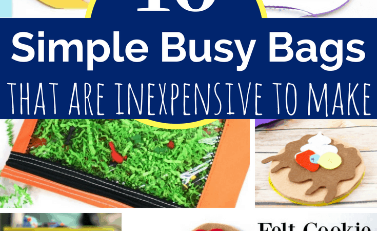 10 Inexpensive Busy Bags to Make for Kids