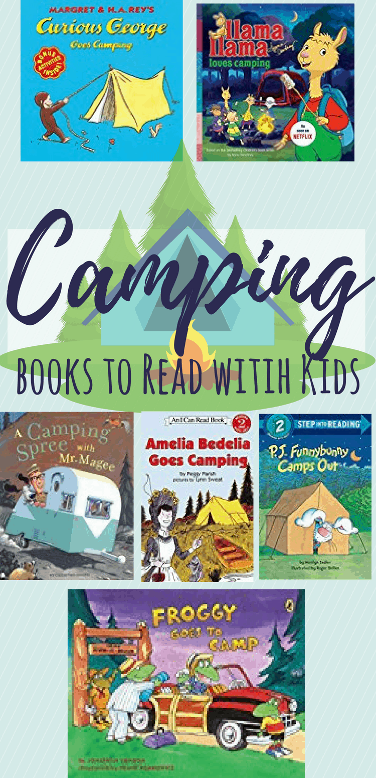 Camping books for kids. Perfect for reading while camping, preparing for camping, or as an indoor camping activity. #kidsbooks #campingbooks #kidsactivities