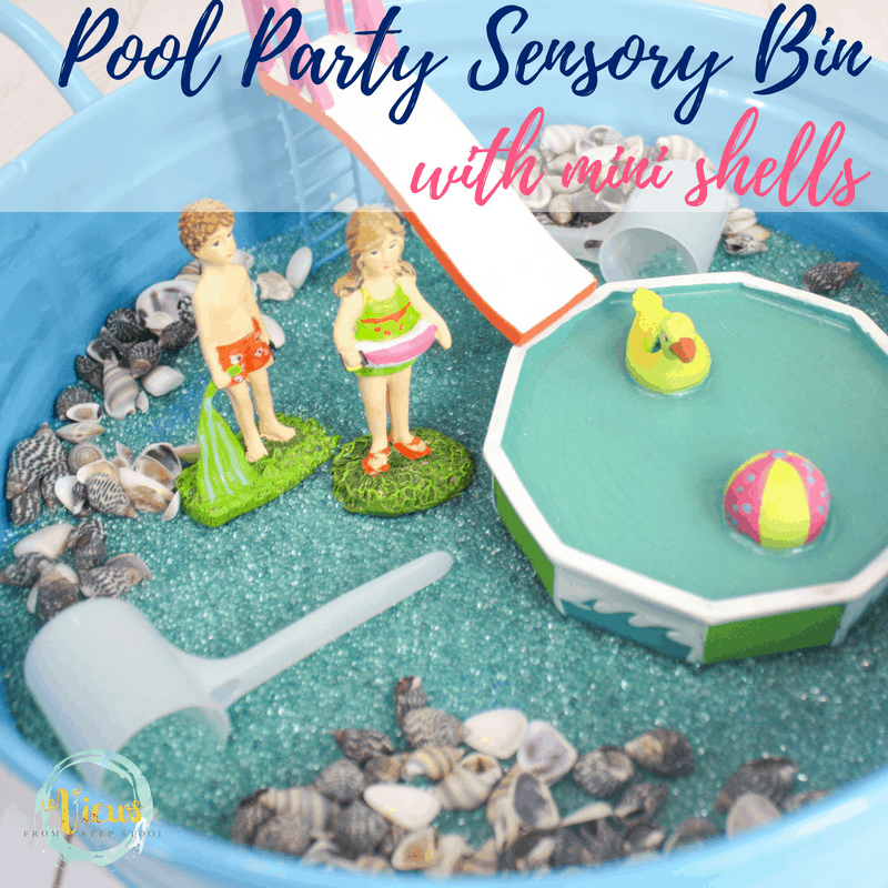 pool party sensory bin square